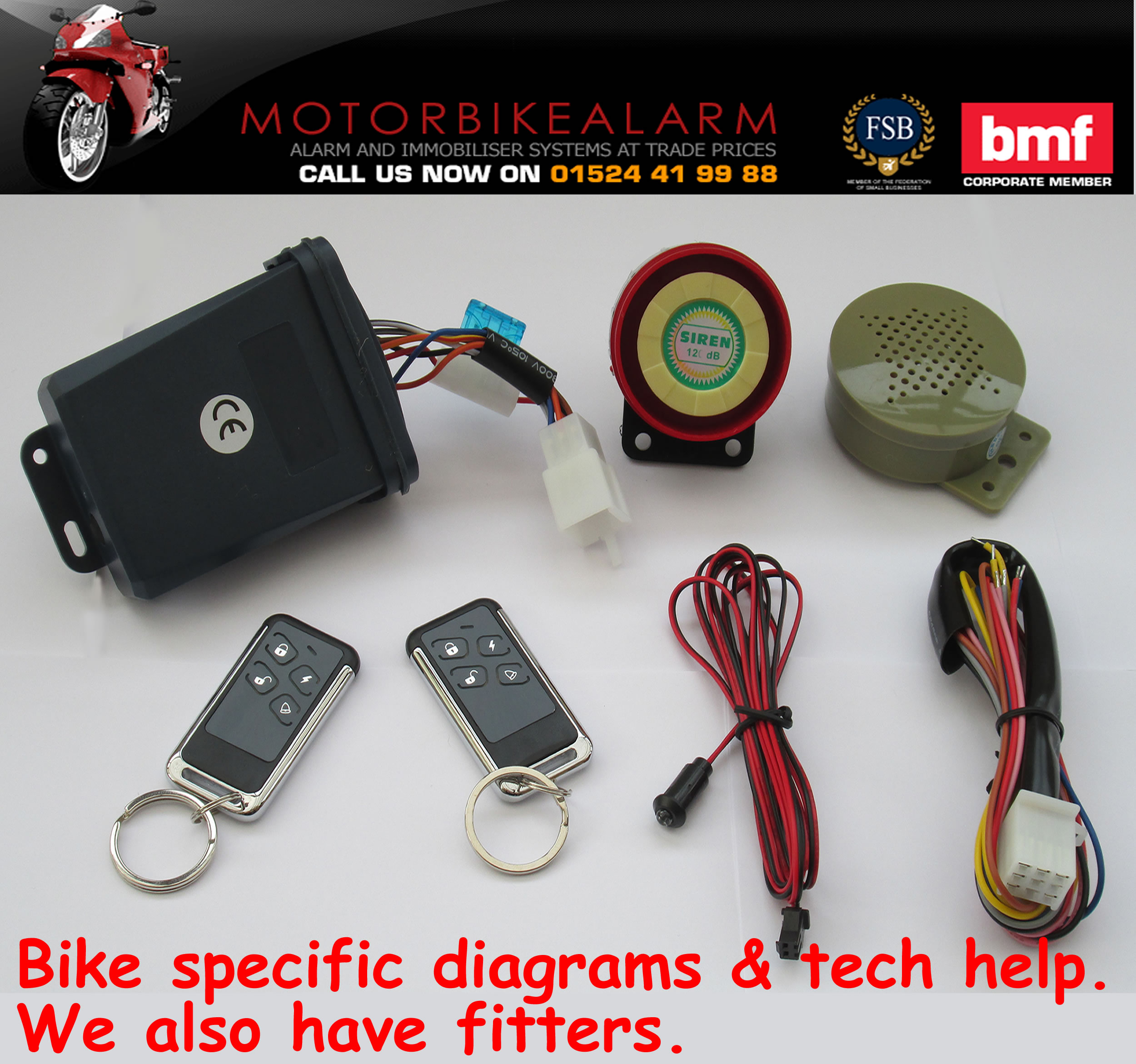 NCS C-11 Talking Motorbike Alarm and Immobiliser System ...