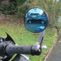 CNC Round Aluminium Bar End Mirrors Genuine NCS pair. Most bikes catered for