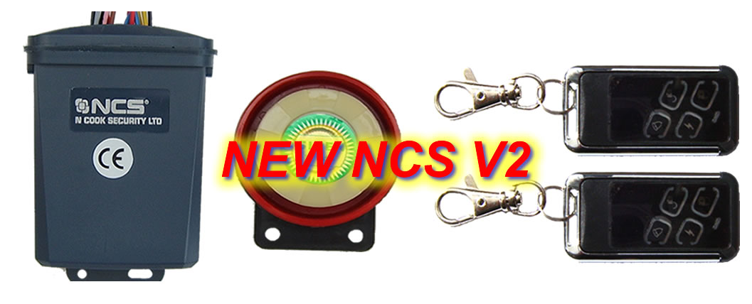 nontalkcleanpicV2 B ncs v2 motorbike alarm and immobiliser system motorbikealarm co cyclone car alarm wiring diagram at arjmand.co